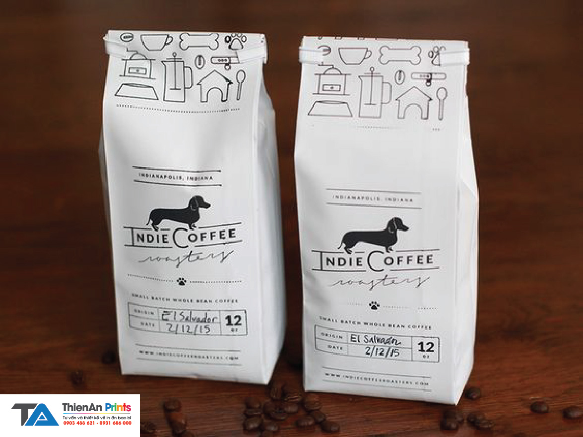 Túi cà phê giấy kraft