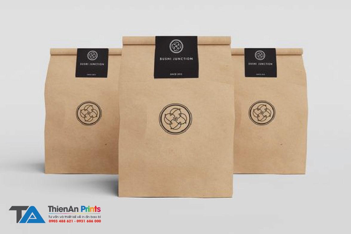 In túi giấy đựng thức ăn nhanh