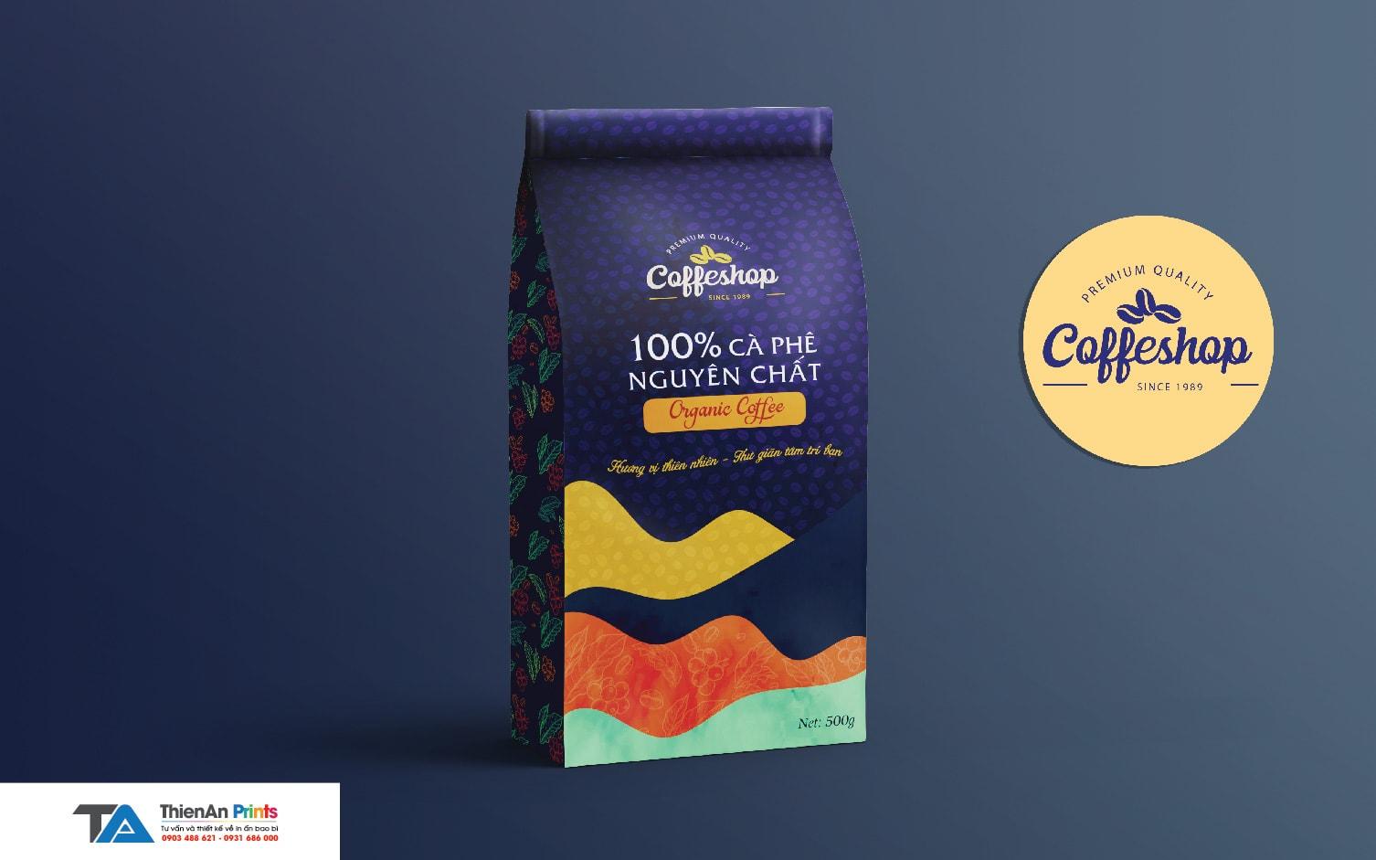 Thiết kế túi cà phê đẹp