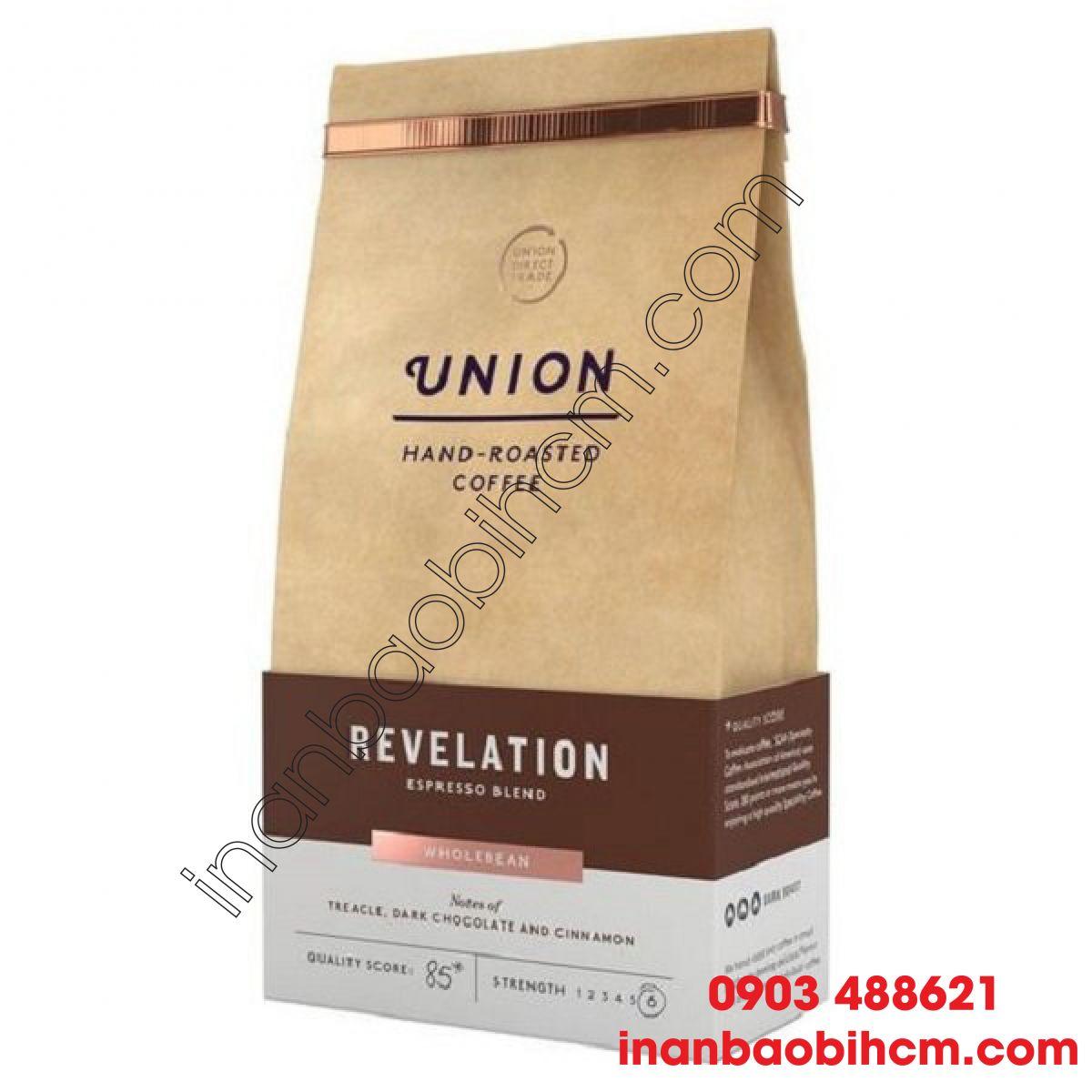 Túi giấy kraft đựng cà phê 02