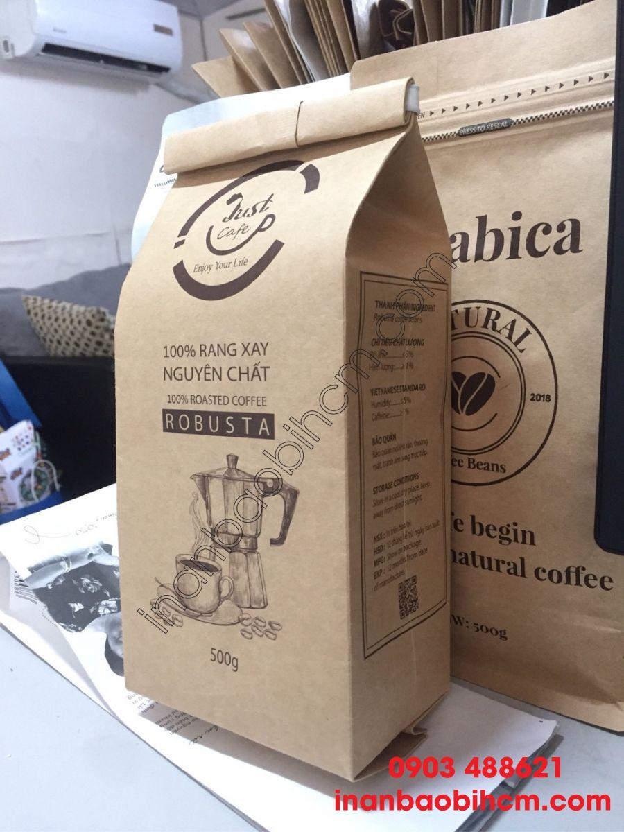 cơ sở in túi đụng cà phê