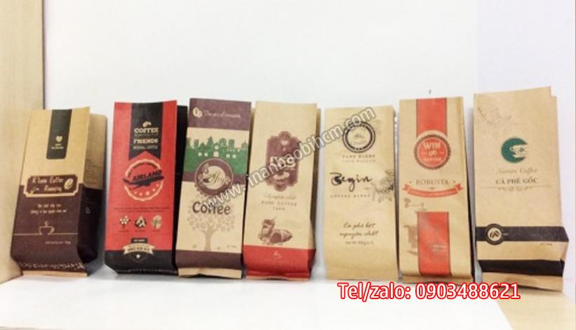 công ty sản xuất túi giấy kraft đựng cà phê