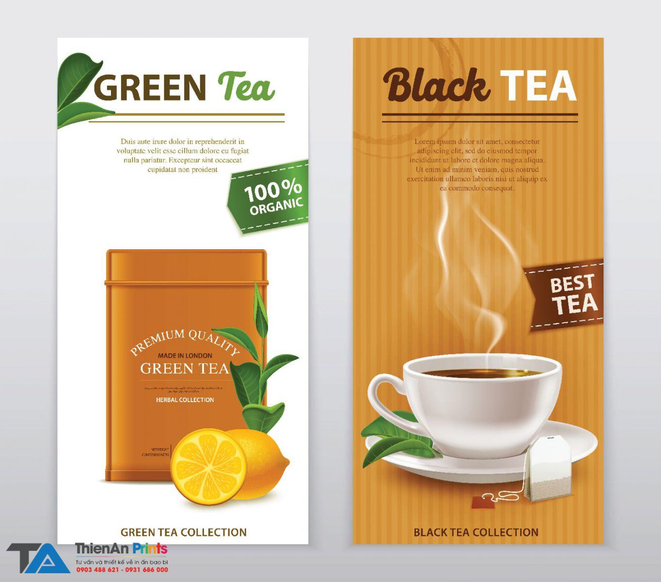 Thiết kế hộp trà đẹp
