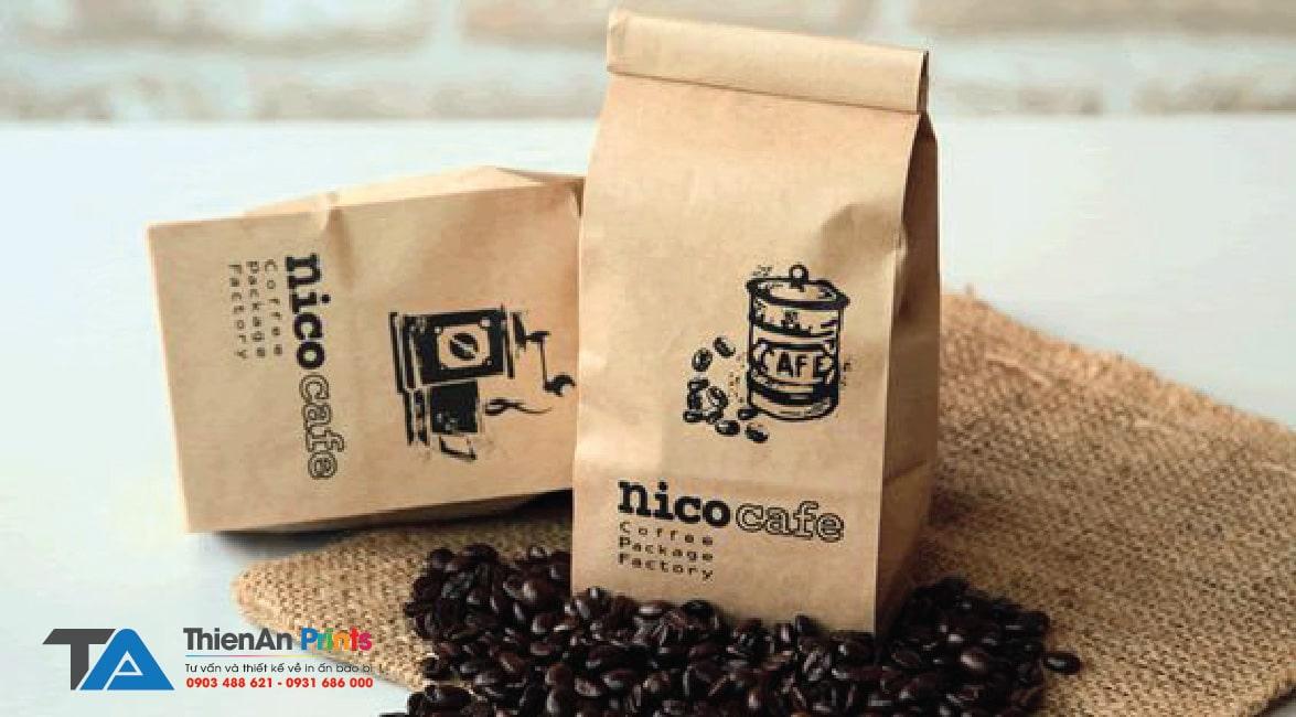 in túi cà phê hạt